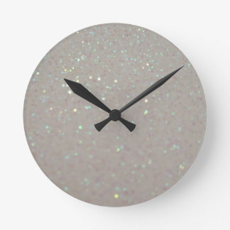 Faux Sparkles & Glitter - cream girly girls clock