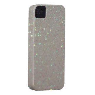 Faux Sparkles & Glitter - cream iphone 4 case