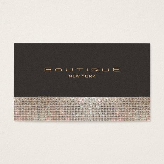 FAUX Sparkling Sequins and Suede Fashion Boutique Business