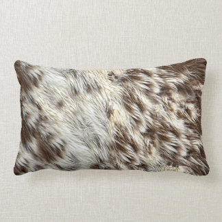 Faux Spotted Horse / Cow Hide / Animal Fur Image Lumbar Cushion