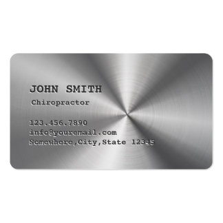 Faux Stainless Steel Chiropractor Business Card