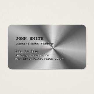 Faux Stainless Steel Martial Arts Business Card