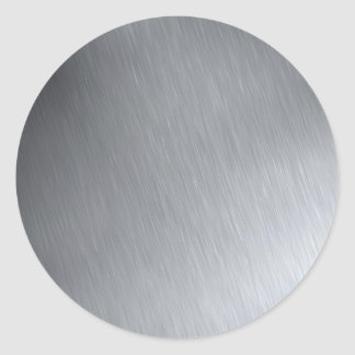 Faux Stainless Steel Round Stickers