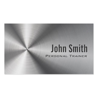 Faux Stainless Steel Trainer Business Card