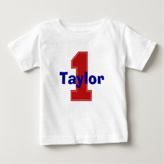 Faux Stitch First Birthday Shirt