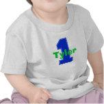 Faux Stitch First Birthday Shirt Blue