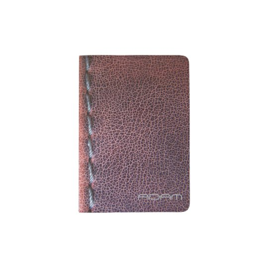 Faux Stitched Vintage Leather Texture Personalised Passport