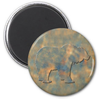 Faux Stone Grizzly Refrigerator Magnet