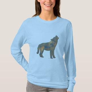 Faux Stone Wolf Art T-Shirt