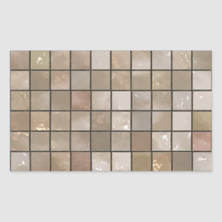 Faux Tan Floor Tile Image Rectangular Sticker