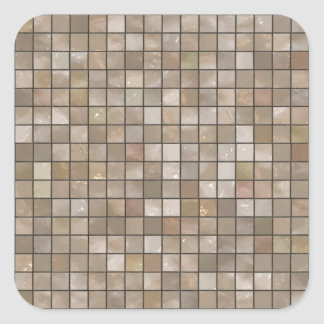 Faux Tan Floor Tile Image Square Sticker