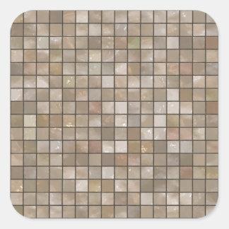 Faux Tan Floor Tile Image Square Sticker