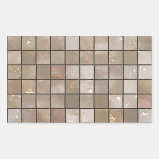 Faux Tan Floor Tile Image Rectangle Sticker