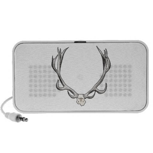 Faux Taxidermy Antler Study VOL 1 Portable Speakers