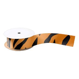 Faux Tiger Print Satin Ribbon