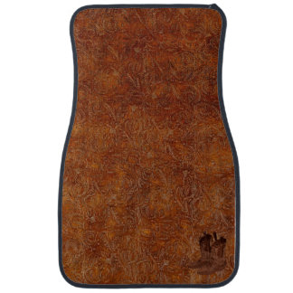 Faux Tooled Leather Western-style & Cowboy Boots Car Mat