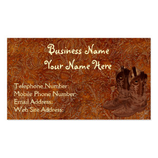 Faux Tooled Leather Wrangler style IX Business Cards