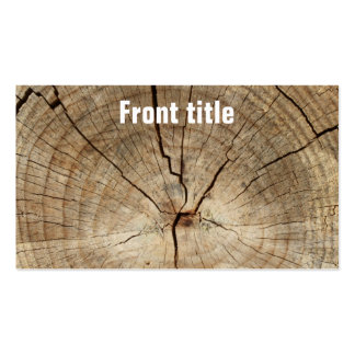 Faux Tree Rings Background Business Card Templates