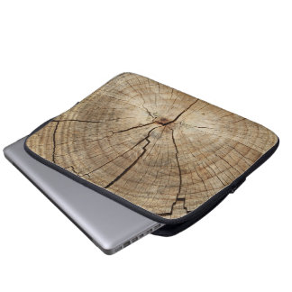 Faux Tree Rings Background Laptop Sleeve