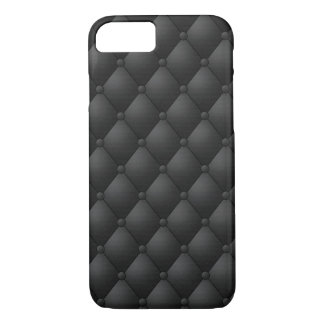 Faux Tufted Black Leather Look-like Texture iPhone 8/7 Case