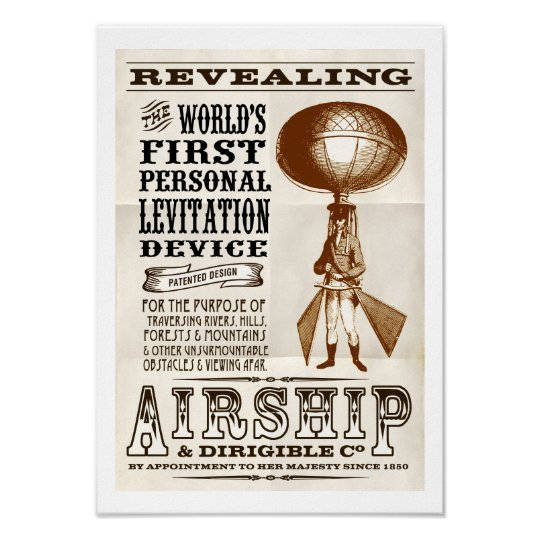 Faux Victorian Airship & Dirigible Co poster