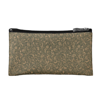 Faux vintage book cover retro wallpaper pattern cosmetic bag