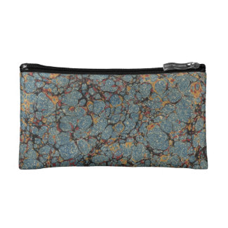 Faux vintage book cover retro wallpaper pattern cosmetic bags