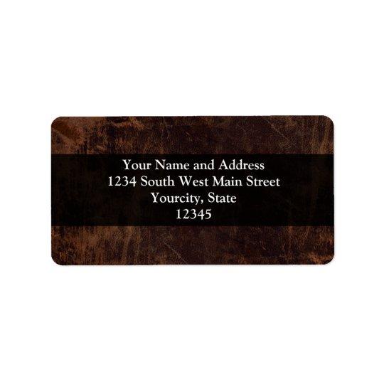 Faux Vintage Leather-Look Address Label
