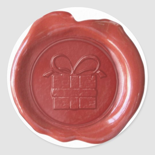 Faux Wax Seal - Red - GIFT