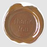 Faux Wax Seals - Milk Chocolate - Bold - Thank You Stickers