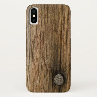 Faux Weathered Barn Wood iPhone X Case