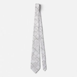 Faux White Decorative Marble Tile Background Tie