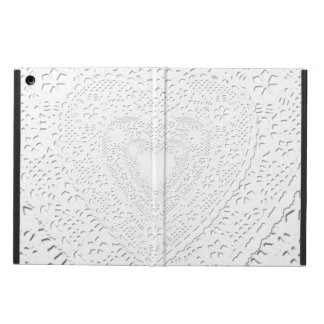 Faux White Lace Fabric Background iPad Air Cases