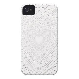 Faux White Lace Fabric Background iPhone 4 Cases