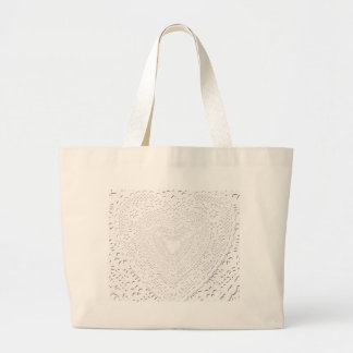 Faux White Lace Fabric Background Large Tote Bag