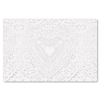 Faux White Lace Fabric Background Tissue Paper