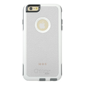 Faux White Leather OtterBox Custom Initials OtterBox iPhone 6/6s Plus Case