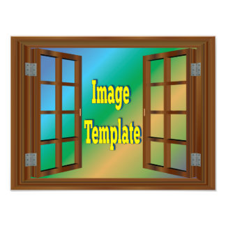 Faux Window Create Your Own Photo Template
