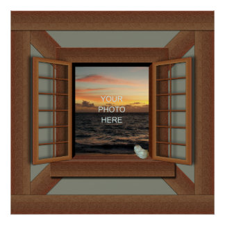 Faux Window Frame Poster Add Your Photo