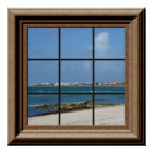 Faux Window Poster Beach Scene Relaxing View