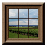 Faux Window Poster Vineyard Scene Wall Art