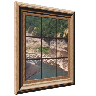Faux Window Scene Genesee River Gorge Canvas Canvas Print