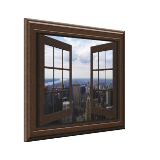 Faux Window View Empire State Building NYC Canvas