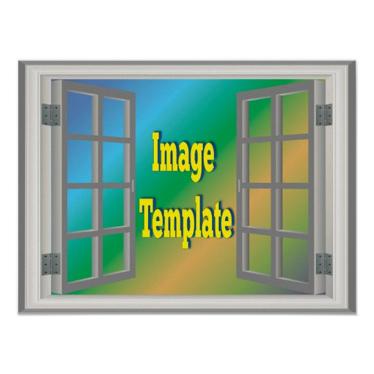 Faux Window White Create Your Own Photo Template