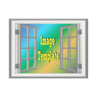 Faux Window White Photo Template Create Your Own Canvas Print