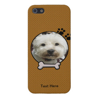 Faux Wood Doggy Photograph iPhone 5 Case