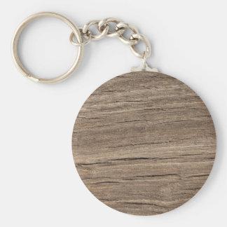 Faux Wood Grain Key Ring