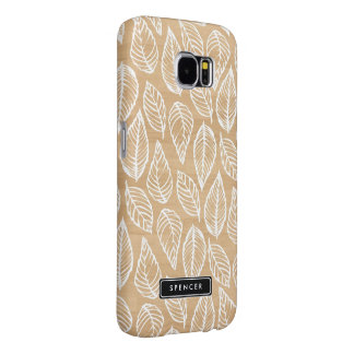 Faux Wood | Leaves Pattern Samsung Galaxy S6 Case