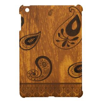 Faux Wood Paisley iPad Mini Case