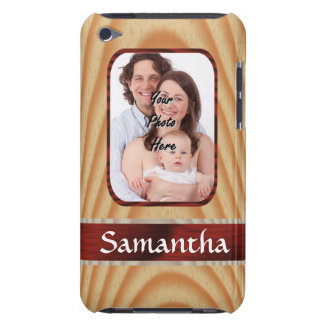 Faux wood photo template barely there iPod cases